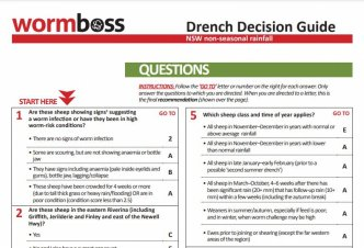 The Drench Decision Guides are available as a digital questionnaire or a hard-copy document (pictured above)